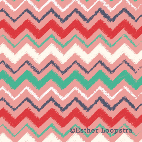 Frayed chevron pattern