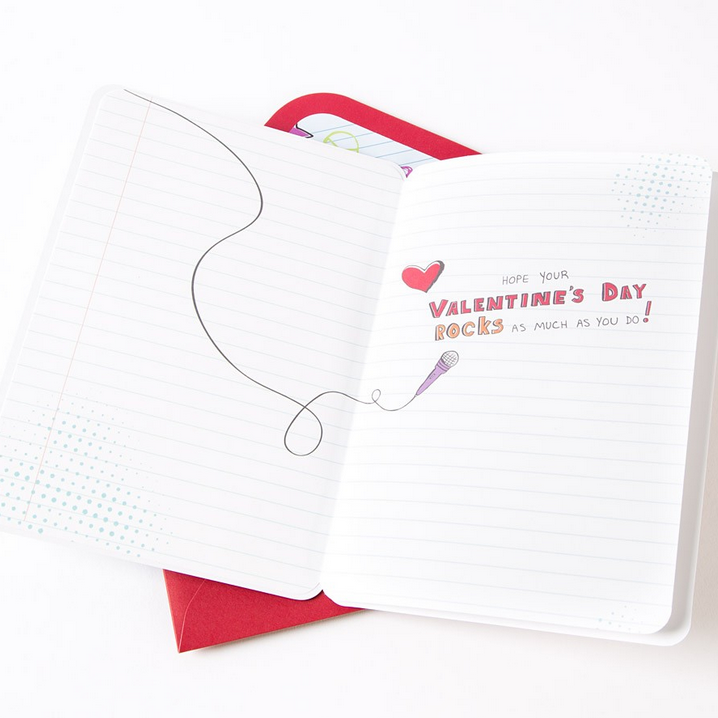 tween valentine card inside