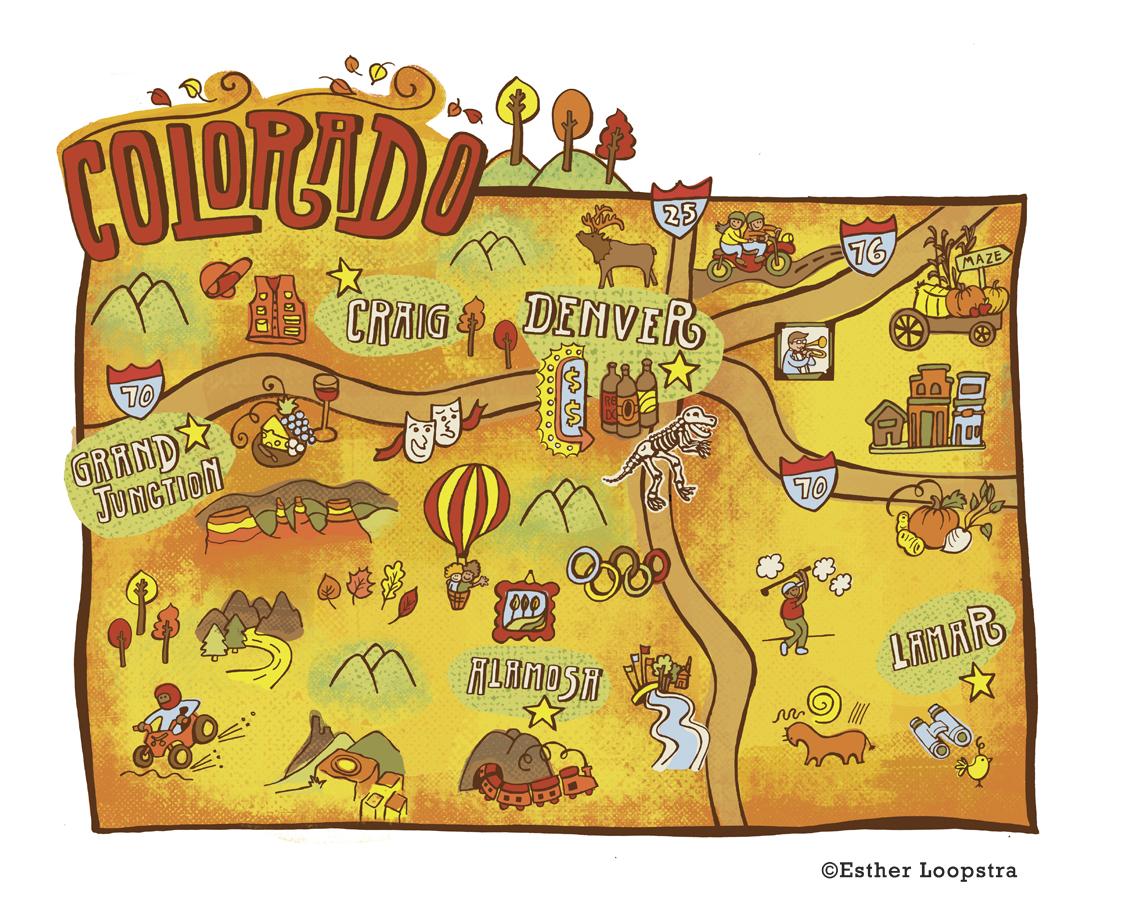 Denver Post • Colorado Map Series — ESTHER LOOPSTRA