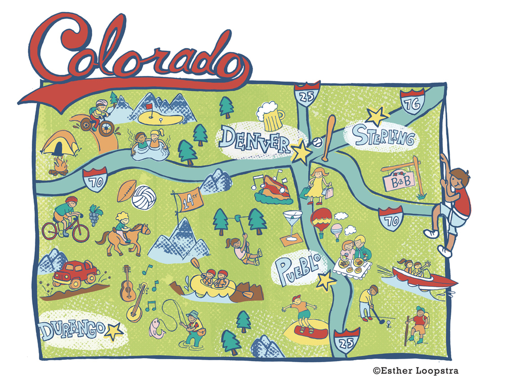 Denver Post Colorado Map Series Esther Loopstra