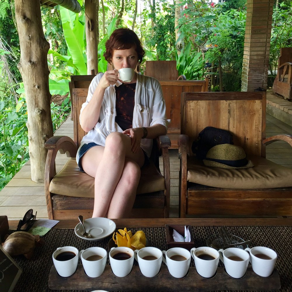 I tried many different kinds of coffee including Luwak coffee made from beans that a jungle cat eats and poops out!