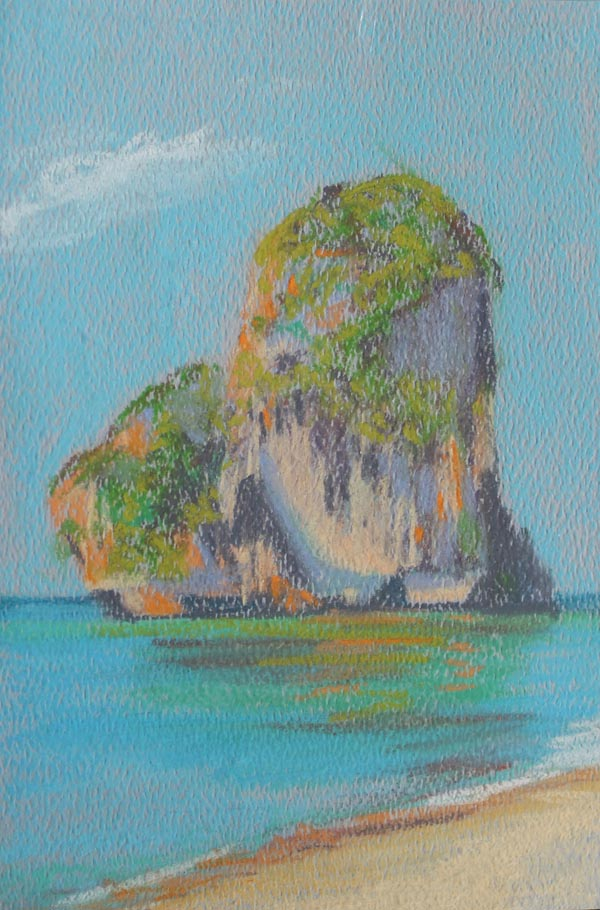krabi_pastel_drawing_beach