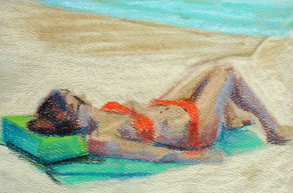 pastel_laying_out_beach