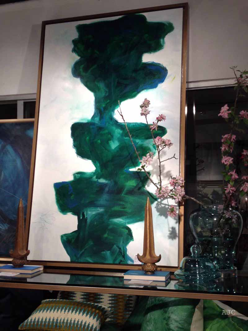 This painting must sing to malachite lovers!