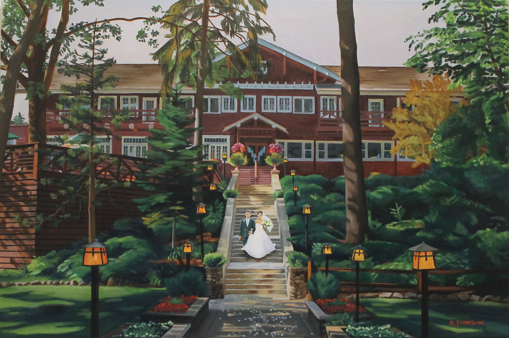grandviewlodgeweddingpainting