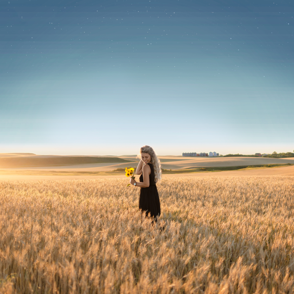 Stephanie in Wheat Field