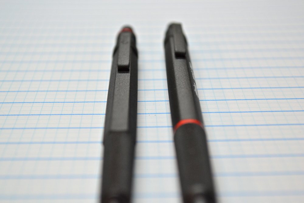 Comparison to 600 series ballpoint