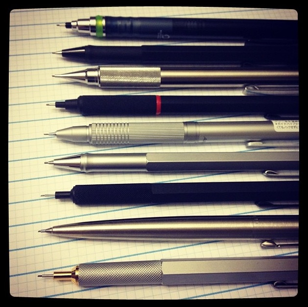 Recent Instagram Post of Pencils While Testing