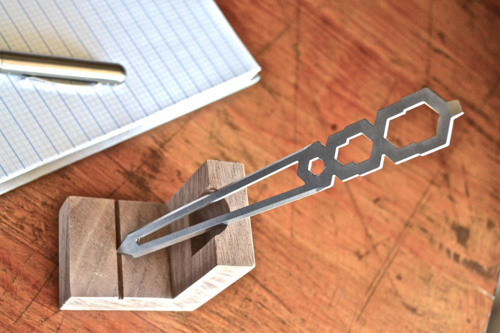 Tiletto Titanium Kickstarter Letter Opener