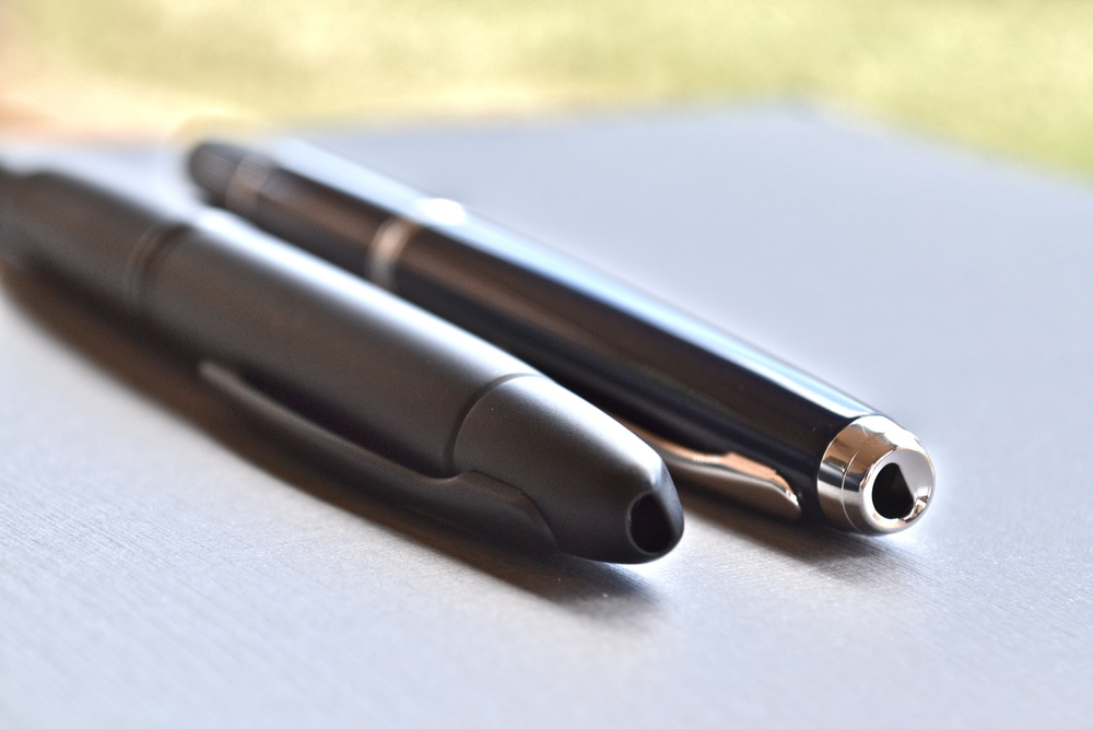 The clip of the pen is in the grip which may cause the same issue as its retractable counterpart.