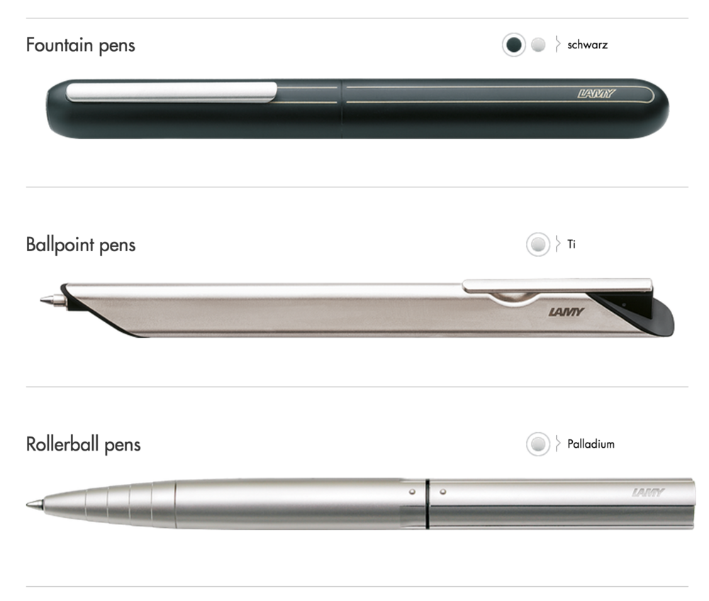 Image from Lamy.com Website