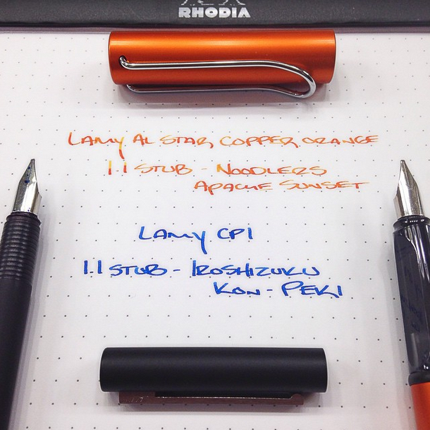 My Copperorange and cp1 pens in action on  Instagram  - stubbed...
