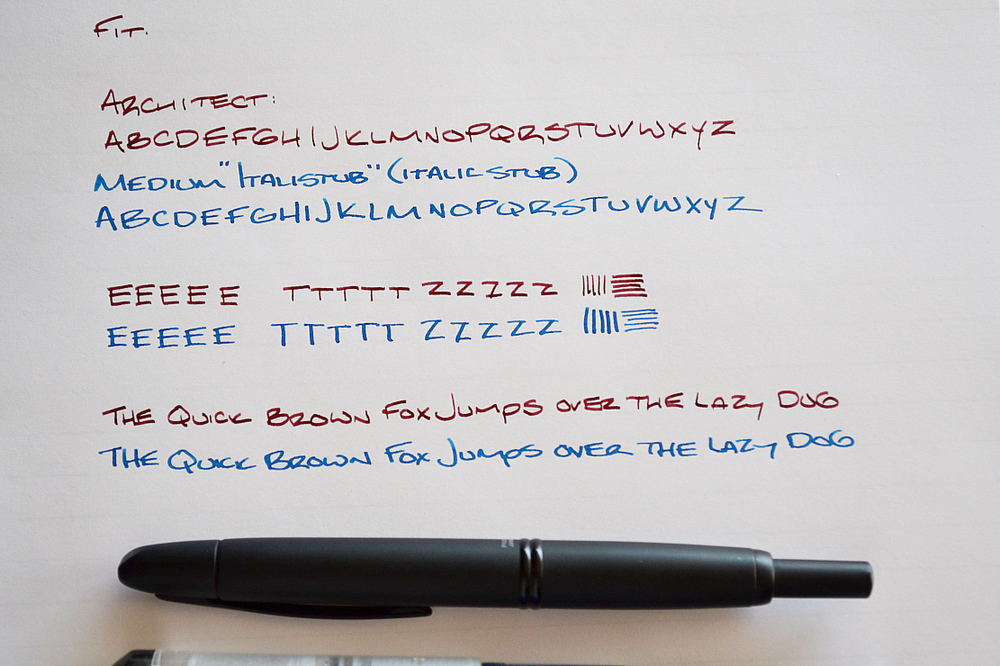 Samples written on Clairefontaine Triomphe