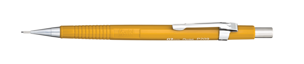 Regular Pentel Sharp 0.9mm ( image via Pentel )
