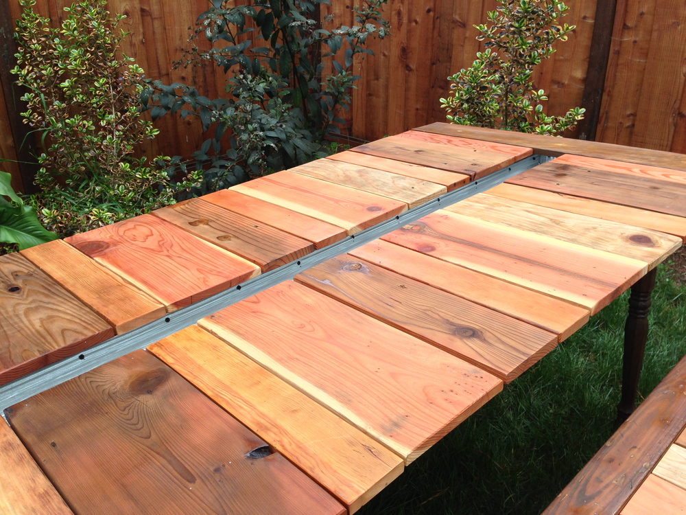 Picnic table with planter and benches katie jackson woodworks img4225g watchthetrailerfo