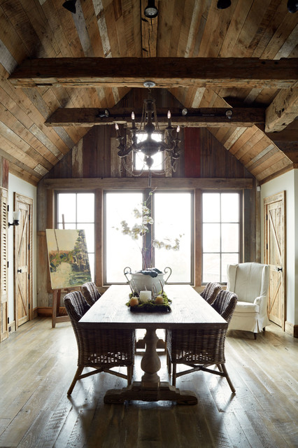 elorablue :     Rustic Dining Room-Wellborn + Wright