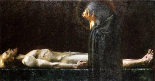 cavetocanvas :      Franz von Stuck ,  Pieta , 1891