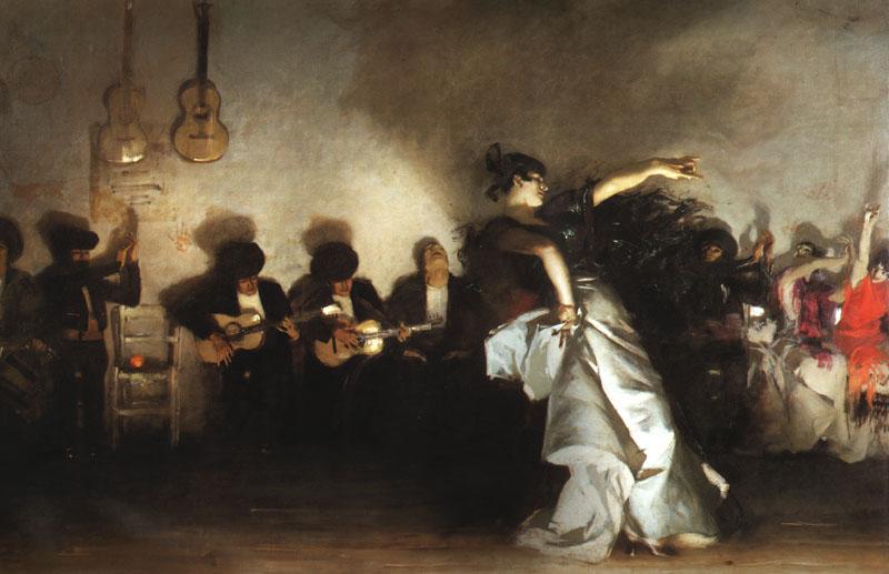 knifeinthewater :     John Singer Sargent, El Jaleo,1882