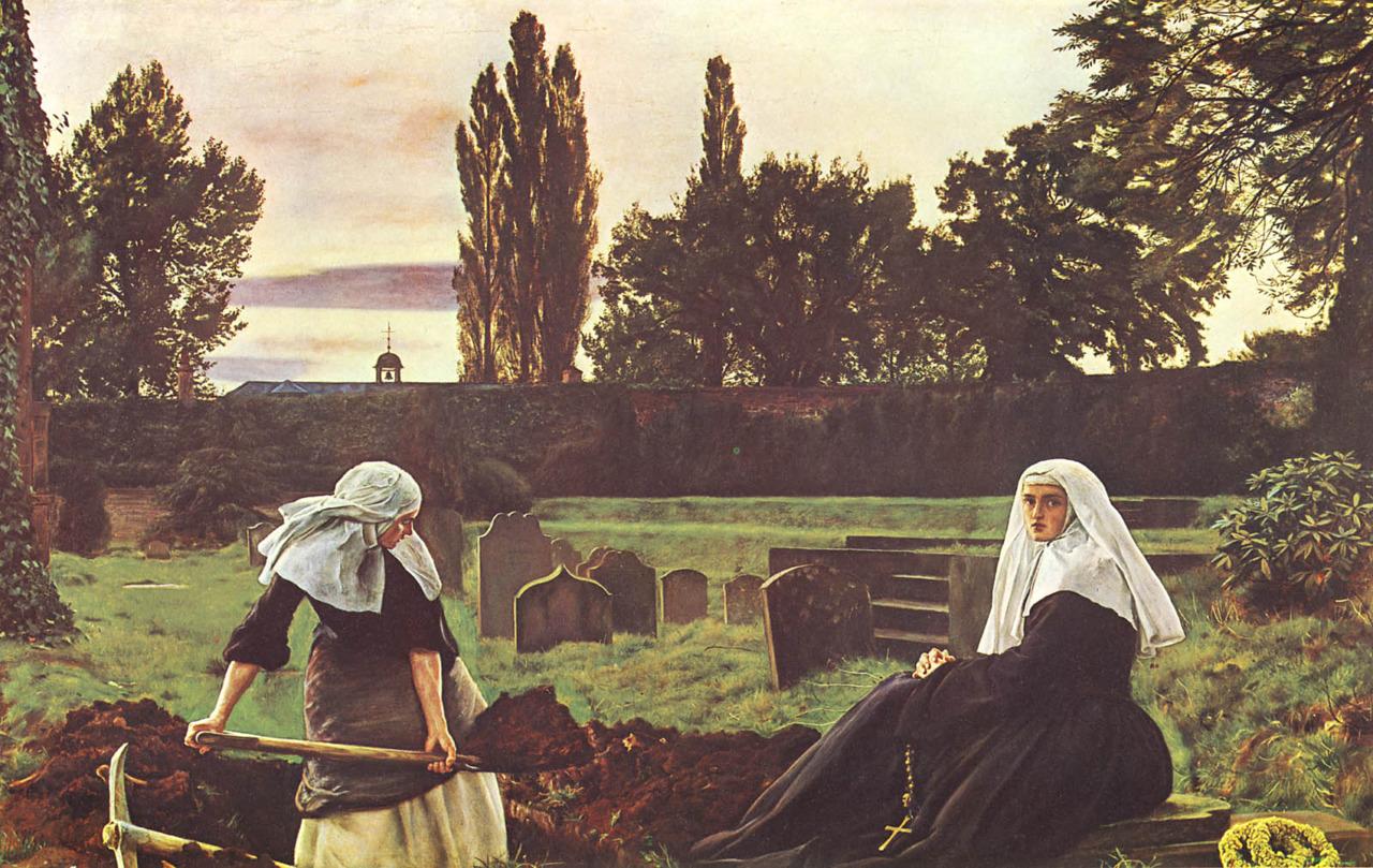 fuckyeahpreraphaelites: Das Tal der Stille John Everett Millais 1856