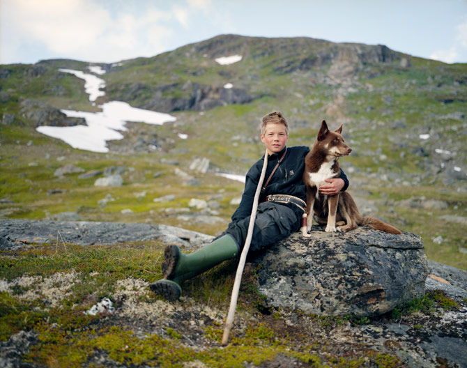 "letsmovetothecountry: The People Who Walk with Reindeer Erika Larsen ""Johan Kuhmunen, with his dog Cammu, lives in Sweden, but the summertime range for his family's herd crosses into Norway. The Sami tradition of learning from the elders is an important part of reindeer herding, and knowledge is passed down from generation to generation and not learned in books."""