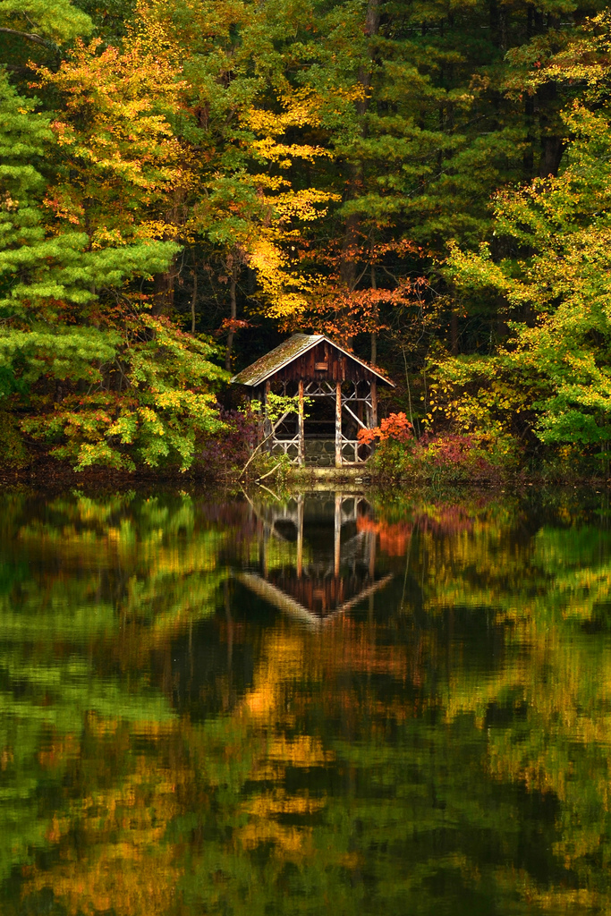 landscapelifescape :      Saylors Lake, Saylorsburg, Pennsylvania, USA    Reflections on the lake  (by  blhunter09 )