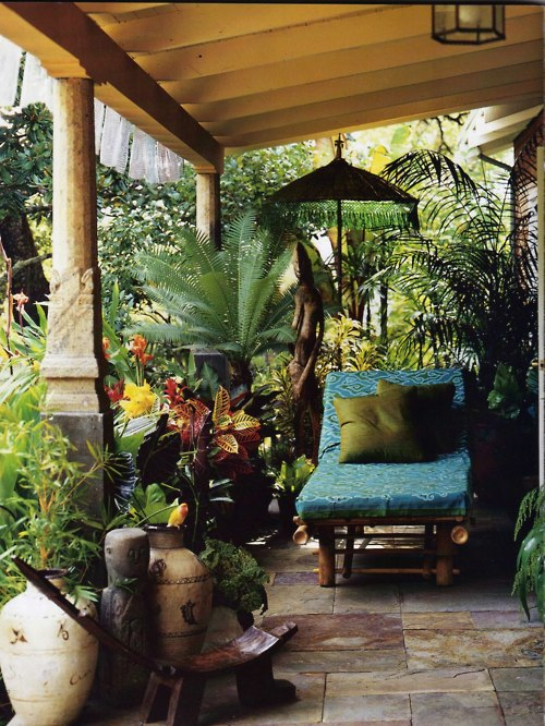 sunsurfer :       Garden Patio, Bali,        photo via  blobspo t