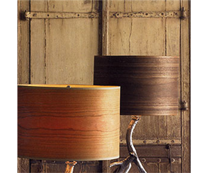 Veneer lampshades?  Yes!