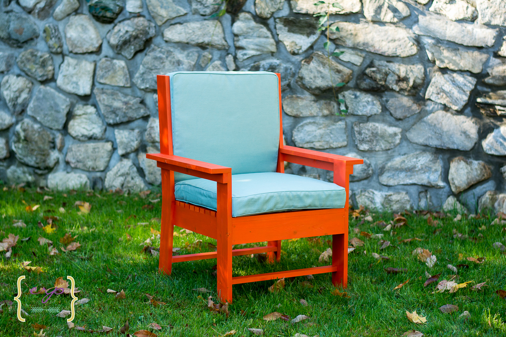 International Orange Chair