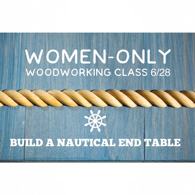 "Sign up for this WOMEN-ONLY woodworking class at Danbury Library!  Each person will make their own pine end table to take home.  We'll use a miter saw to cut boards to length, a drill/driver to attach the pieces with counterbored and plugged holes, and a palm sander to sand it all smooth.  No experience necessary-- these skills will help you get started in woodworking so you can do more projects at home!  To sign up, go to danburylibrary.org and click on ""Events"". This class is FREE with a $15 materials fee.  #danburylibrary #makerinresidence #womenswoodworkingclasses #womeninwoodworking #handbuiltoutdoorfurniture #diywoodworking #diyendtable #woodworkingclasses #danburyct"