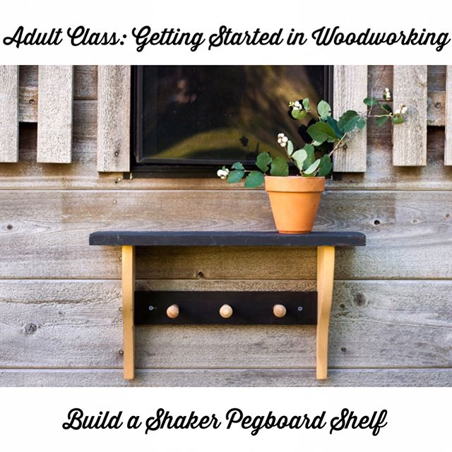 During my Maker-in-Residence week at @danburylibrary, I'll be teaching a class for adults titled Getting Started in Woodworking.  This class is for adults who don't have a woodshop but would like to make simple DIY projects at home, and includes: -A walkthrough of how to buy lumber and materials -How to use basic tools -Techniques for cutting and joining wood  Attendees will make their own take-home project, a Shaker Pegboard Shelf.  This class will be over the course of two evenings: students should plan to be there on both Monday and Tuesday.  For adults who are new to woodworking.  Maximum 5 attendees- sign up now to reserve your spot!  #diywoodworking #handbuiltoutdoorfurniture #danburyct #woodworkingclasses #makerinresidence #danburylibrary #katiejacksonwoodworks