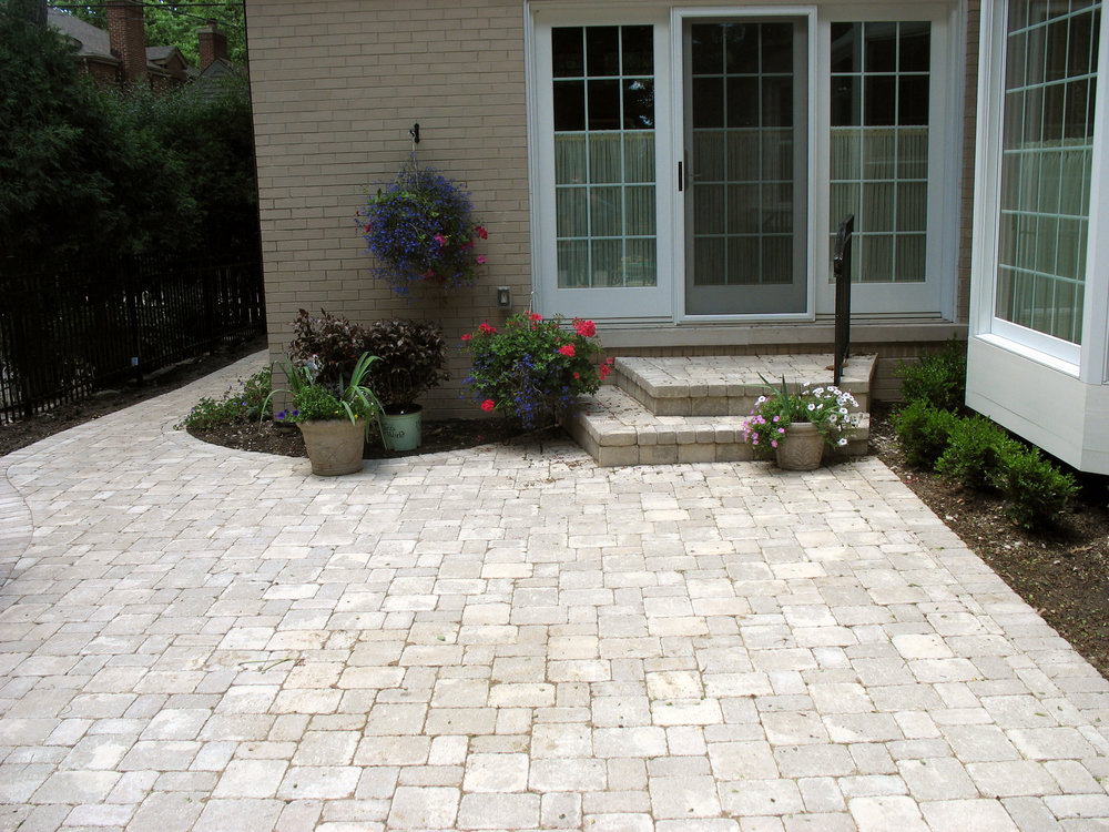 Captivating ... Custom Designed Living Space Or Replace Your Cracked, Worn Out Concrete  Patio With Our Interlocking Pavers Or Stone. Countless Color Options,  Shapes, ...