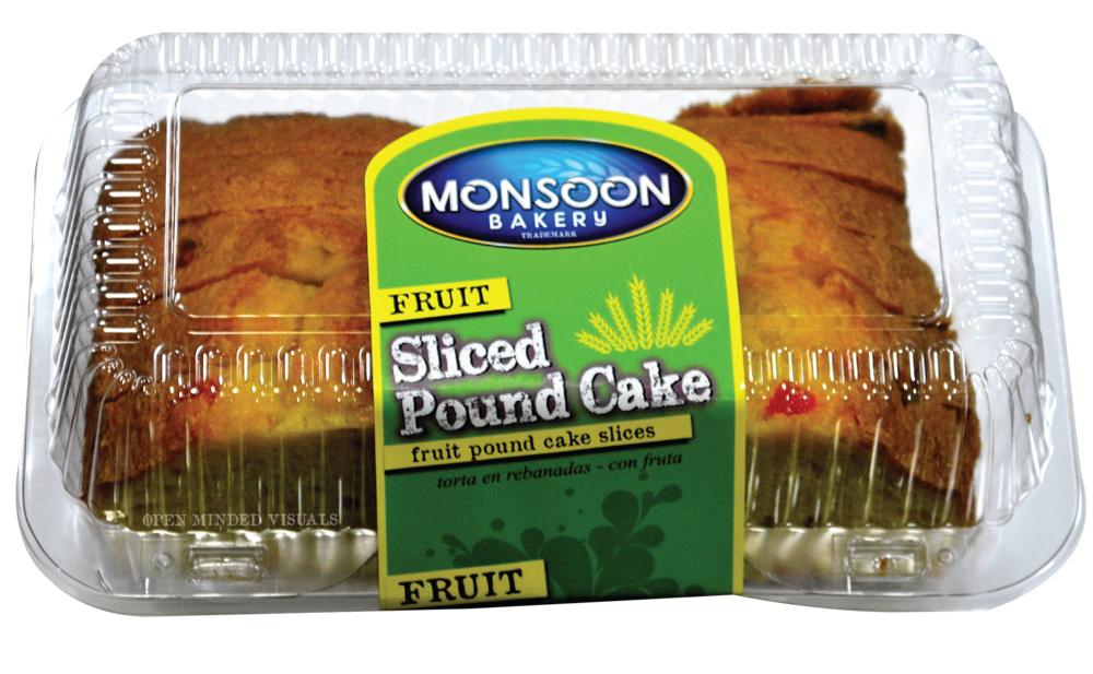 Sliced Fruit Pound Cake