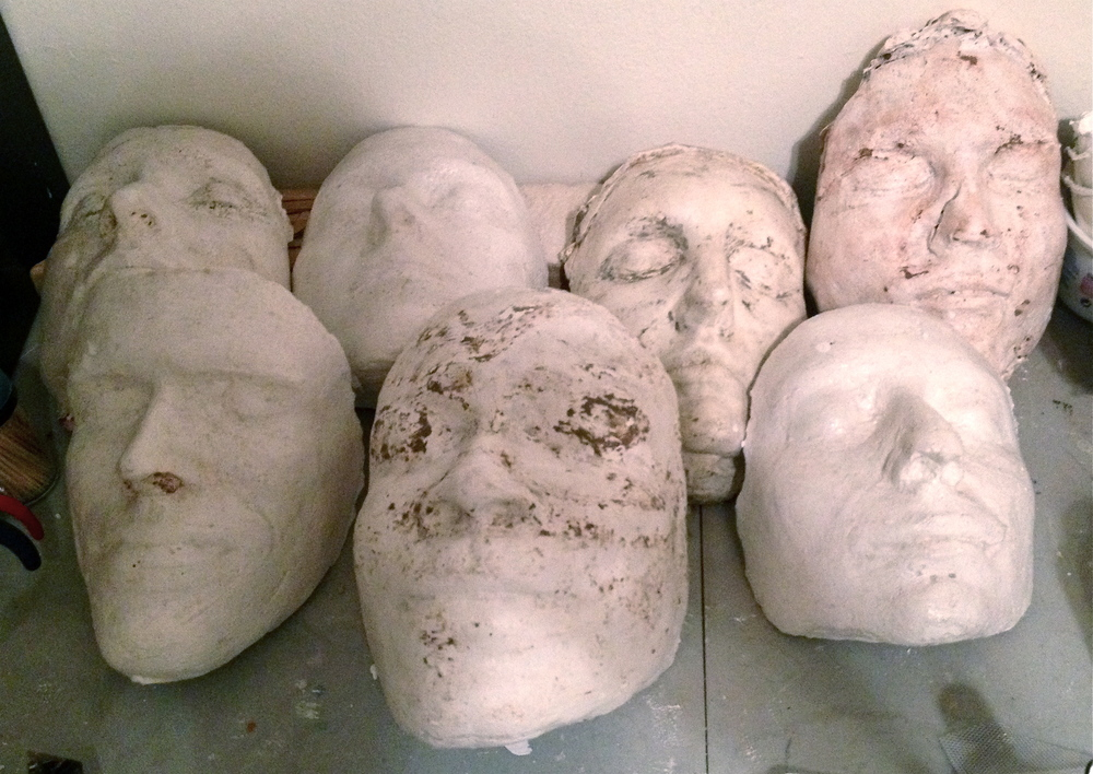 Yes, I have a plaster face collection, thank goodness I have actor friends who are willing to let me cast them.