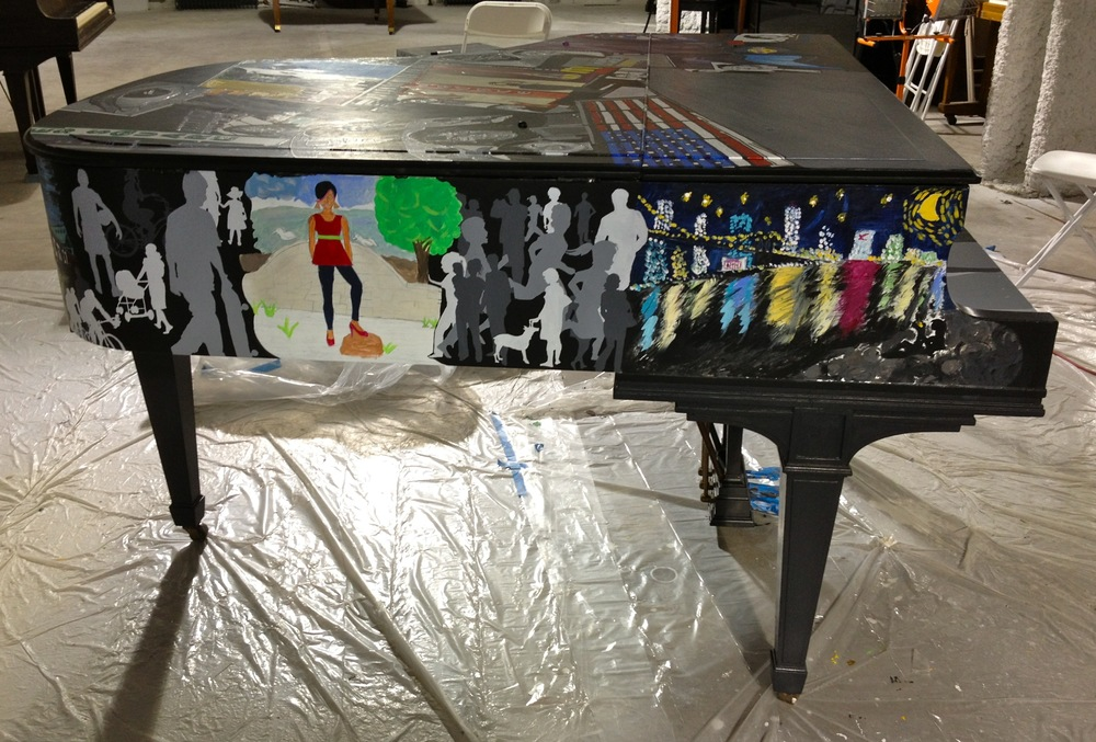 Left Side of Piano - Student Work