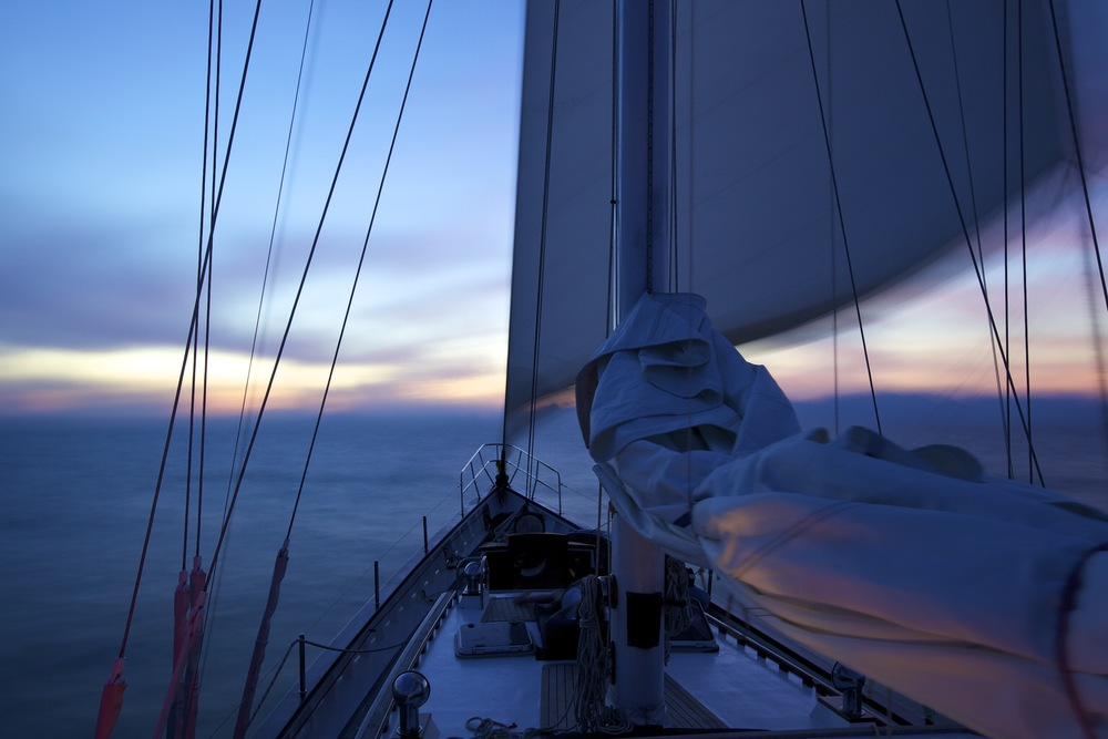 Sailing at sunrise