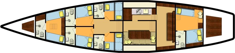 Meta IV, layout