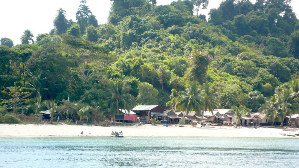 Our dinghy arriving at a village beach in Myanmar's Mergui Archipelago.jpg