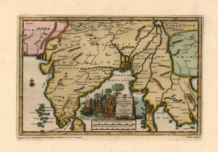 10 Beautiful Ancient Maps and Charts of Myanmar — Burma Boating ...