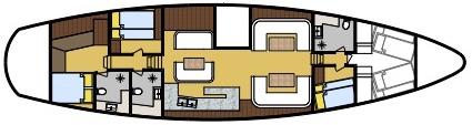 Jubilaeum cabin layout