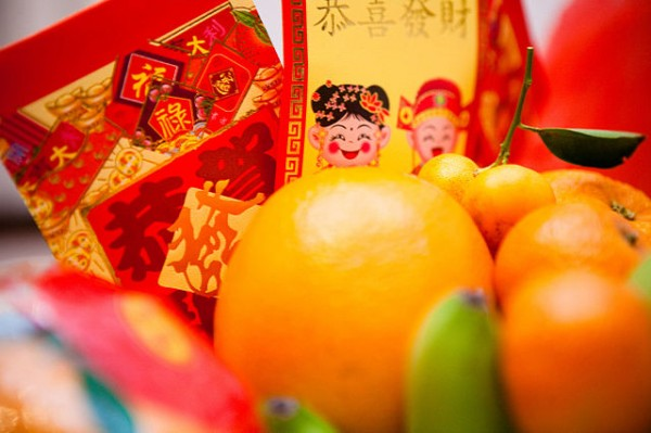 Kumquats, 金橘 (Jīn jú) share the same word as gold in Chinese, 金 (Jīn). It is commonly seen during Chinese New Year as a symbol of wealth and prosperity. The ideal of wealth is prevalent in Chinese culture. ( photo: Kenny Louie)