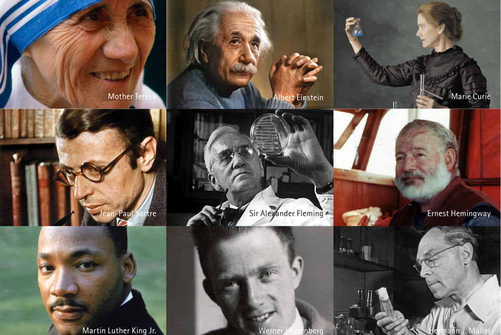 Short list ofNobel Prize laureates