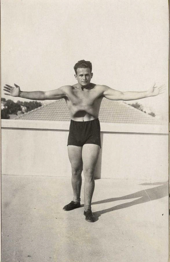A Young Feldenkrais in Palestine (with abdomen fully withdrawn)