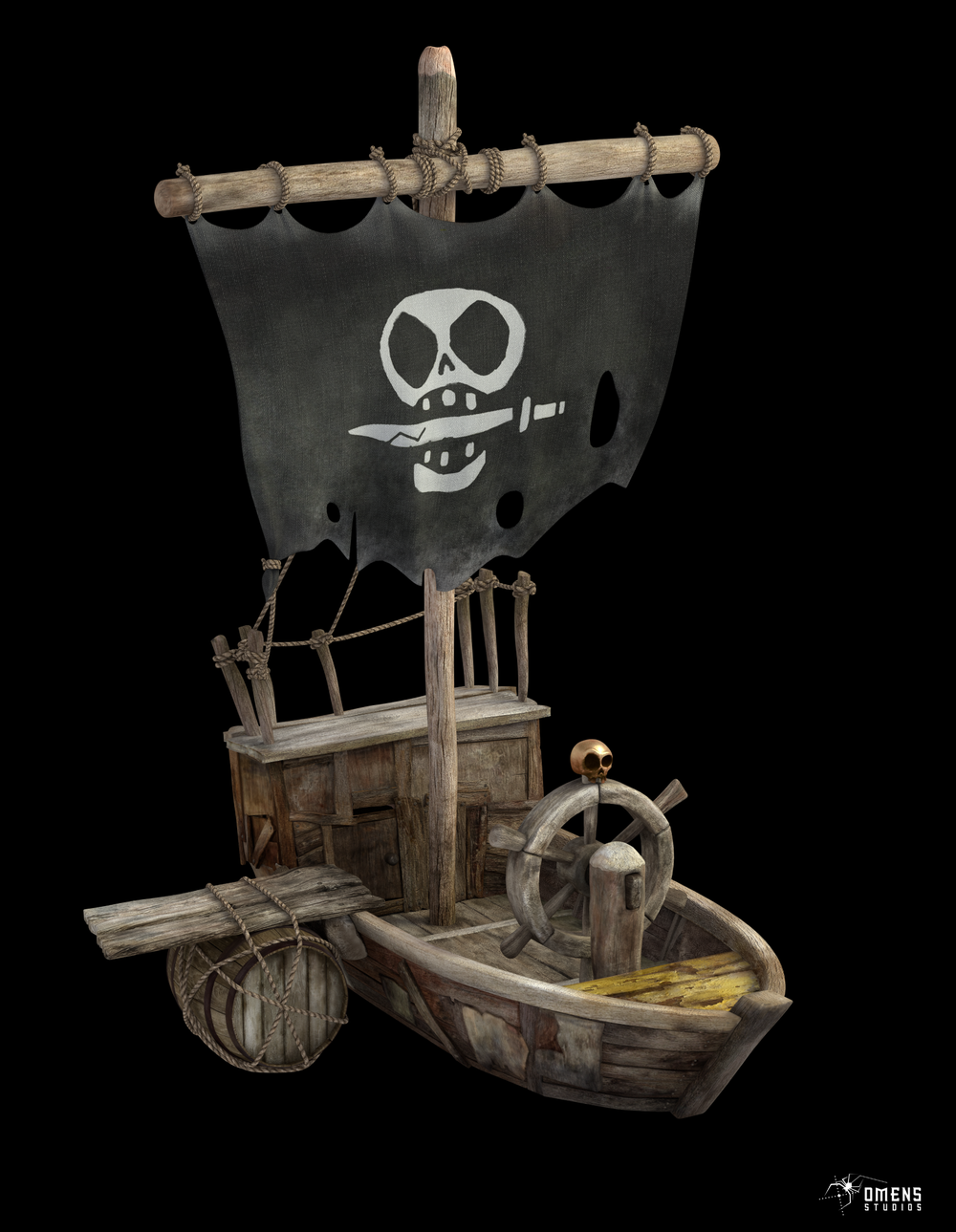 And I also textured majority of the boat. It was fun. Blender is awesome.