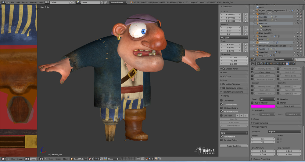 Shmelly texturing in Blender
