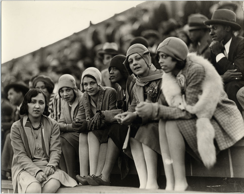 Vintage 1920 Photo of 6 Young black women at Howard University sports event