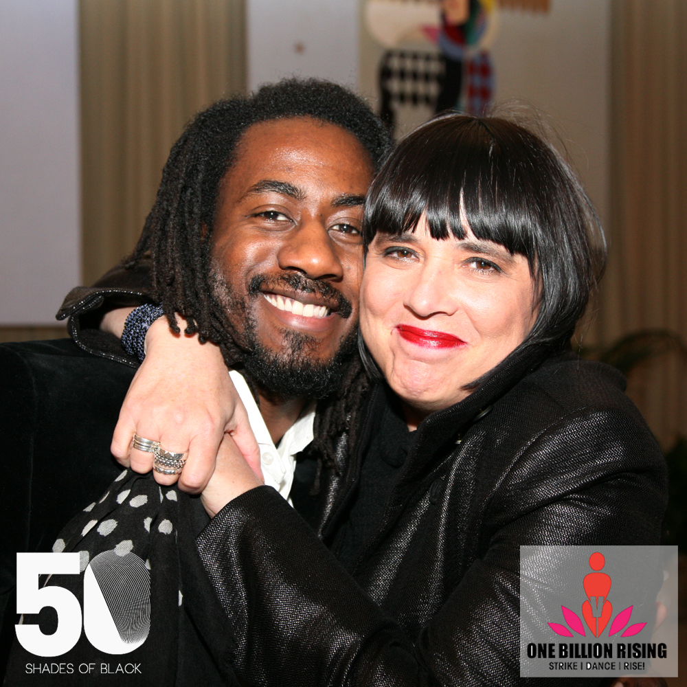 Carlton Mackey with Eve Ensler, Atlanta GA