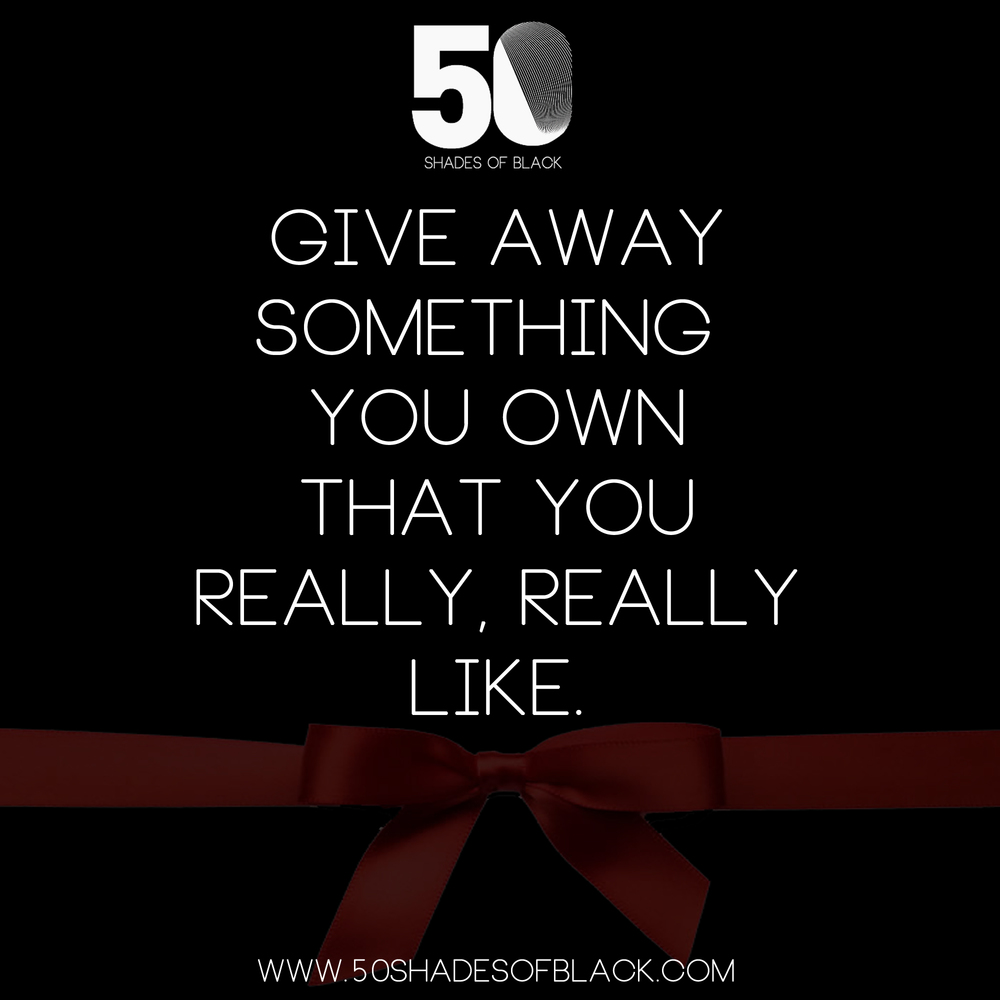 give something away