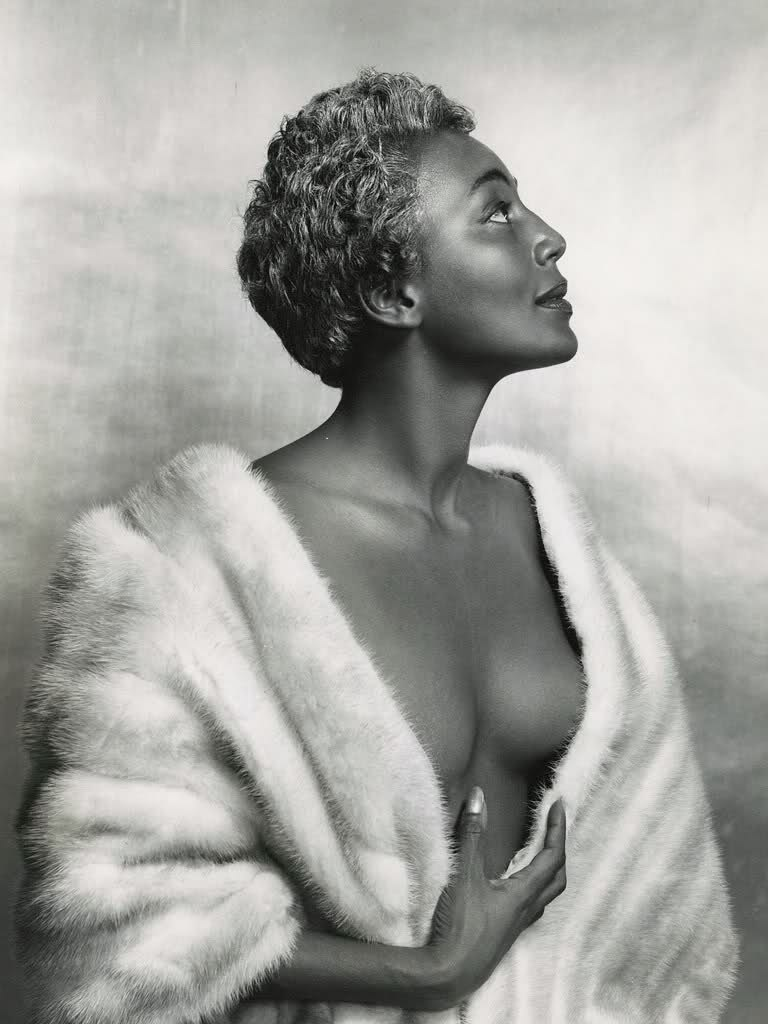 The first photo that I saw of the woman some deemed as the Black Marilyn Monroe.