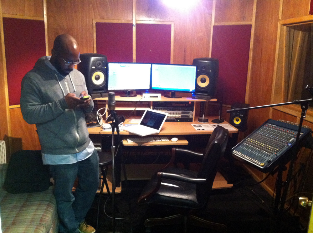 Floyd Hall in Recording Studio at WonderRoot in Atlanta, GA