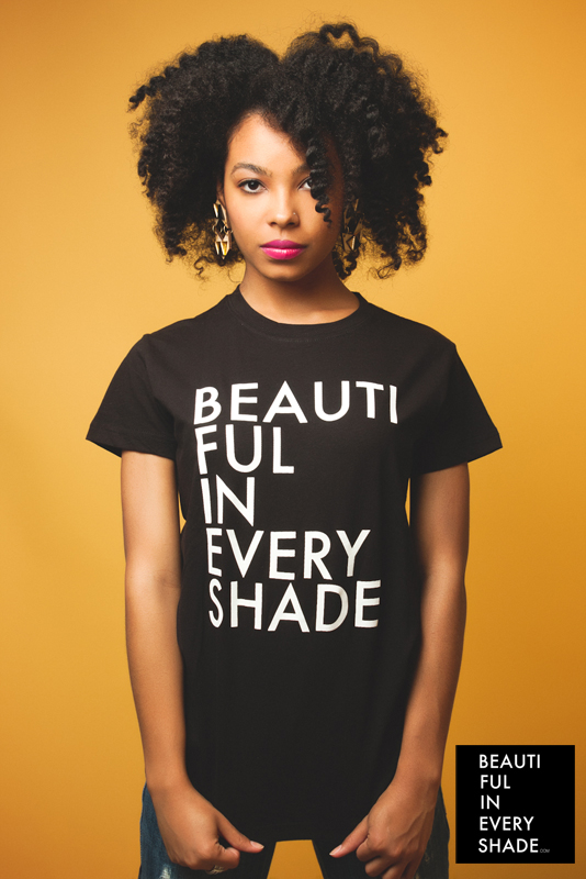Rebecca Knight by Creative Silence for BEAUTIFUL IN EVERY SHADE.   Order Shirts HERE